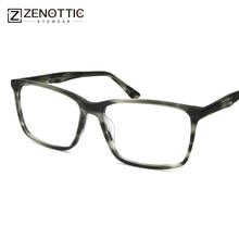 ZENOTTIC Designer de Acetato de Óculos de Armação Homens Marca de Luxo  Praça Optical Olho Óculos Frames Óculos Lunette de Vue Ho. 1b0e6896f9