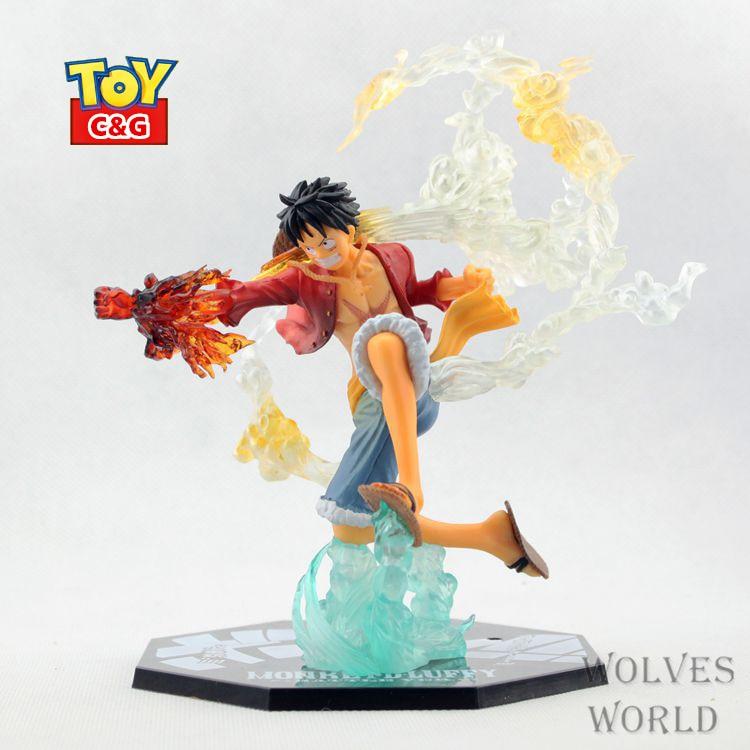 15cm Monkey D Luffy Gomu Gomu No Red Hawk Battle Version Pvc