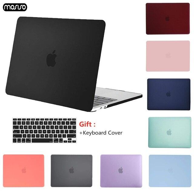 MOSISO クリスタルマットケースカバー Macbook Air の 11 空気 13 インチ A1466 A1932 Mac プロ 13 15 網膜 A1706 A1708 A1989