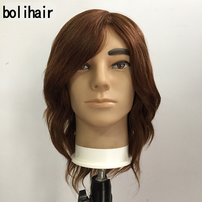 10Inch 100% Human Hair Male Training Mannequin Head For Hairdressers Men Mannequin Head With Human Hair Manequim Head Dummy Head