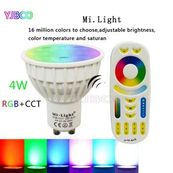 цена на Miboxer GU10 LED Bulb 4W Dimmable LED Lamp Light RGB+Warm White+White (RGB+CCT) Spotlight Indoor Living Room, AC86-265V