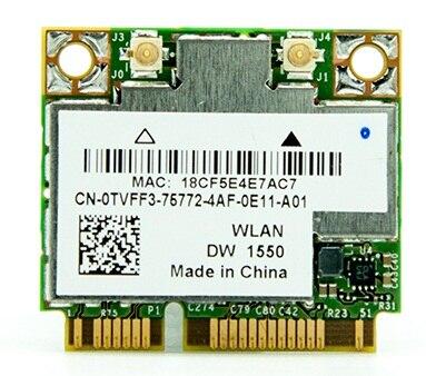 SSEA NOUVEAU WiFi Bluetooth 4.0 Carte Réseau pour Broadcom BCM94352HMB pour Dell DW1550 802.11ac demi Mini PCI-e 867 Mbps 2.4G/5 Ghz