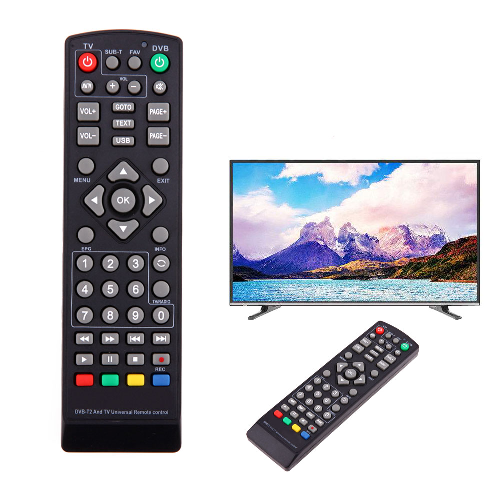 Universal TV Remote Control Replacement TV Remote Controller for TV DVB-T2 Remote Control dvb t2 dvb tv receiver w remote controller black