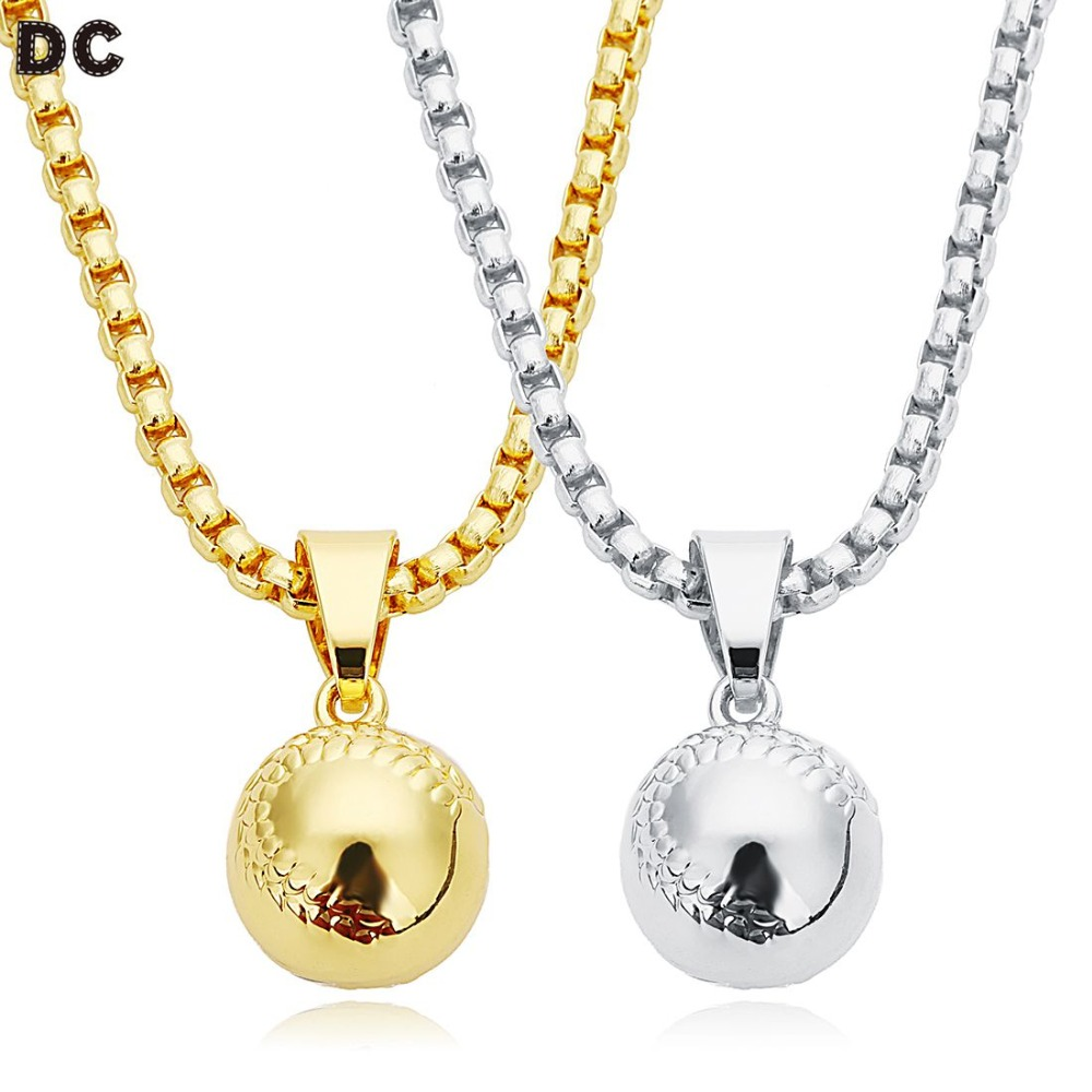 Charitable Dc 2018 Baseball Ball & Club Charms Necklace Pendant Long Links Chains Fit Baseball Fans Sports Necklace Gift Jewelry