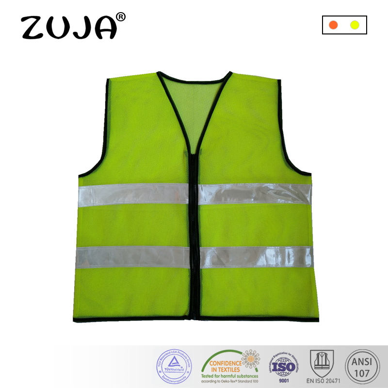 Safety Vest Traffic Fluorescent Hi-vis Pvc Tape/ Mesh Vest Safety Clothing