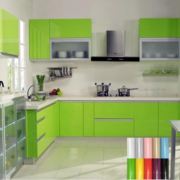colorido diy decorativo pvc papel de pared pegatina muebles de cocina pegatina gabinete tabla