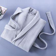 Cotton Mens Bathrobe Thick Warm Winter Robe Night Dressing Gown Pure White Ropa Hombre Bath Comfort Homme Kimono
