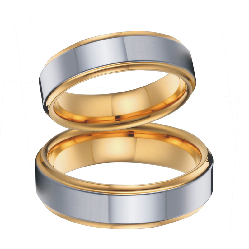 aliexpresscom buy gold colour wedding band couples rings set for men and women titanium jewelry stainless steel ring usa size 5 to 15 from reliable ring - Men And Women Wedding Ring Sets