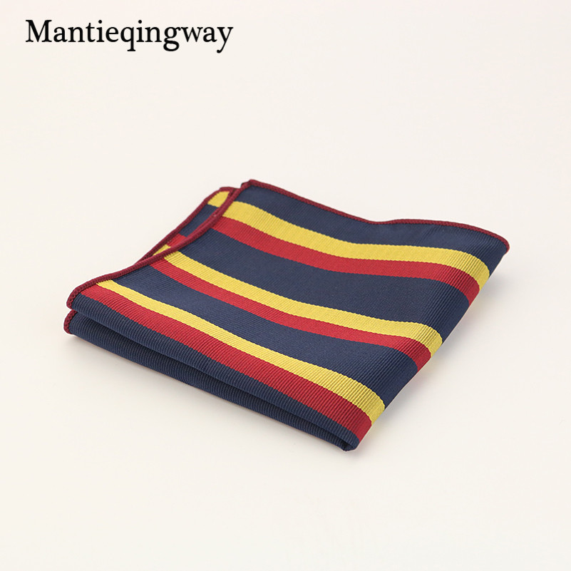 Mantieqingway England Mens Suit Pocket Square Towel Polyester Wedding Business Hankies Hot Sale Mens Printed Handkerchiefs Hanky