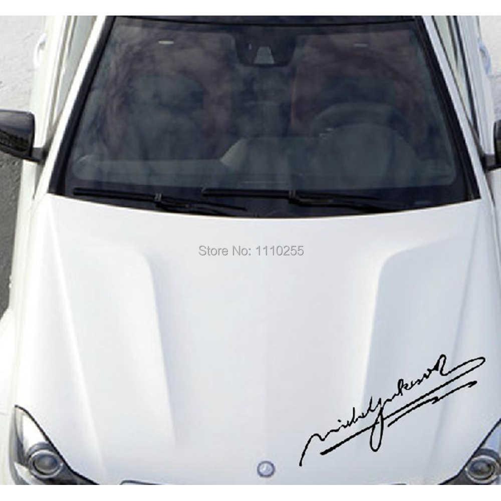 Aliauto voiture-style Sigature par Michael Jackson Voiture Autocollants Accessoires pour volkswagen Toyota Honda Ford Chevrolet