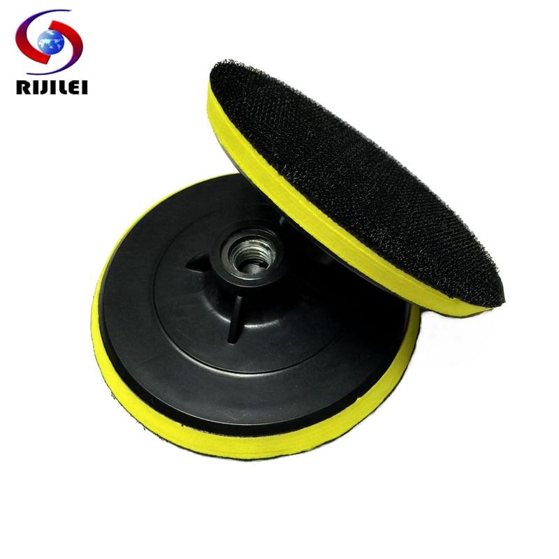 RIJILEI 5 colių lipnus diskinis poliravimo diskas M14 poliravimo padėklas poliravimo padaii 125mm. Guminis padėklas 5HFJ
