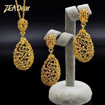 ZEADear joyería romántica conjunto de joyería para mujer pendientes COLLAR COLGANTE conjuntos de joyas de gota de agua para fiesta de boda o compromiso
