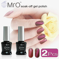 MRO 2 pieces/lot UV LED Gel Lacquer Varnish 3D Cat Eyes Gel Nail Polish Need Magnet Gel UV Gel Polish Cat Eyes Nail Art polish