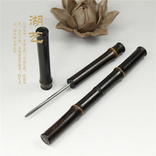 Exquisite Zizhu bamboo knife Pu'er Tea pure hand polished tea tea utensils factory direct needle