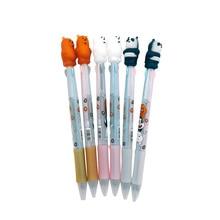 30pcs/lot Korean Version Of The Silica Gel Three Bear Cartoon Ballpoint Pen Color Random For Office And School Stationery