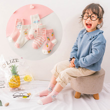YOOAP 5PCS cute little rabbit mesh childrens socks cartoon baby thin breathable fashion  knee