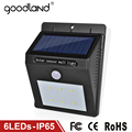 Goodland LED Solar Light Waterproof IP65 Outdoor Lighting LED Solar Lamp Wall Lamps For Home Garden Corridor Decoration