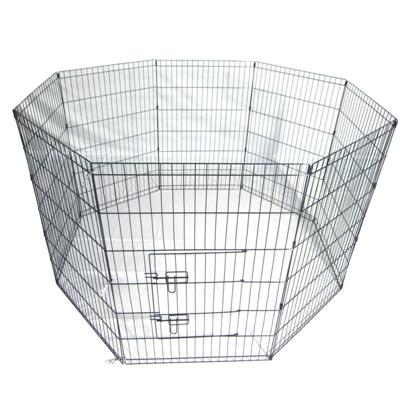 36-Tall-Wire-Fence-Pet-Dog-Cat-Folding-Exercise-Yard-8-Panel-Metal-Play-Pen-Black_1_800x800