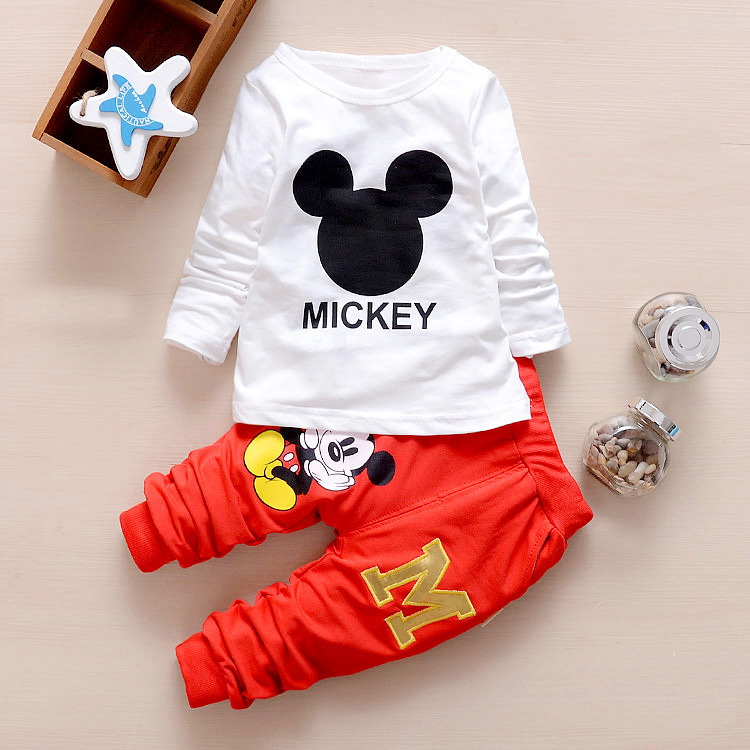4abb066cd8109 2018 Spring Autumn New Baby Boys Clothes Cartoon hoodie coat + Long Sleeved  T shirts + Pants Newborn Baby Girls Clothes Suits -in Clothing Sets from  Mother ...