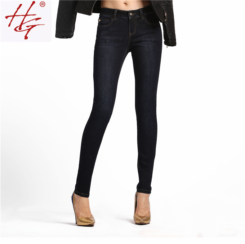 Online Buy Wholesale black jeans women skinny from China black