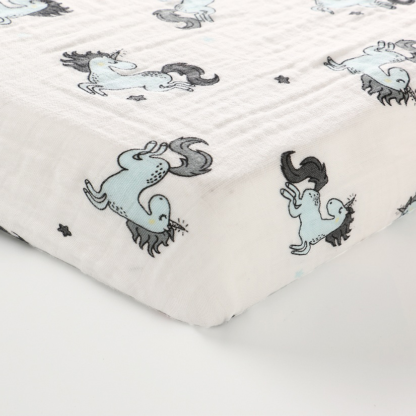 1 Pcs Set Newborn Baby Bed Sheets 100 Cotton Unicorn Print Bed Mattress Cover For baby Girl Boys 130x70cm Baby Bedding Set in Sheets from Mother Kids