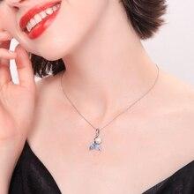 Joolim Cute Delicate Blue Fishtail Pearl Pendant Necklace Summer Korean