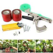 Tirando máquina de planta pacote de plantas de jardim tapener com 12 rolos de fita, usado para legumes, grafias, tomate, pepinhos