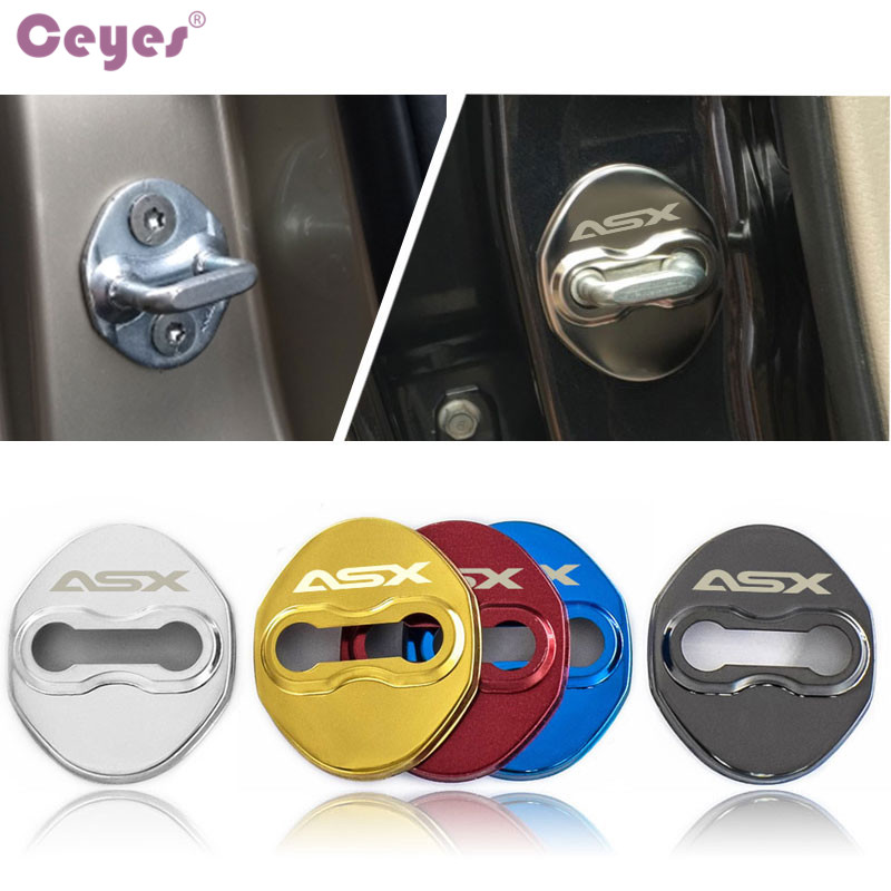 Ceyes Car Styling Auto Protection And Decoration Door Lock Cover Case For Mitsubishi ASX Galant Lancer Accessories Car-Styling