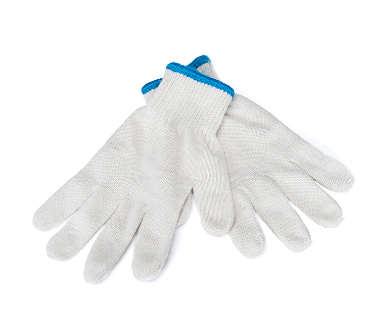 10 double the price of cotton yarn gloves export quality thick shade gloves work wear the price regulation of