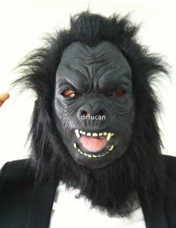 US $33 0 |Halloween Creepy Latex Silicone Mask Chimpanzee Monster Scary  Airsoft Party Masks-in Party Masks from Home & Garden on Aliexpress com |