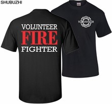 cotton Hot Sale New Men'S T Shirt Firefighter Volunteer Fire Rescue Thin Red Line Department T shirt T Shirt T Shirt sbz5517(China)