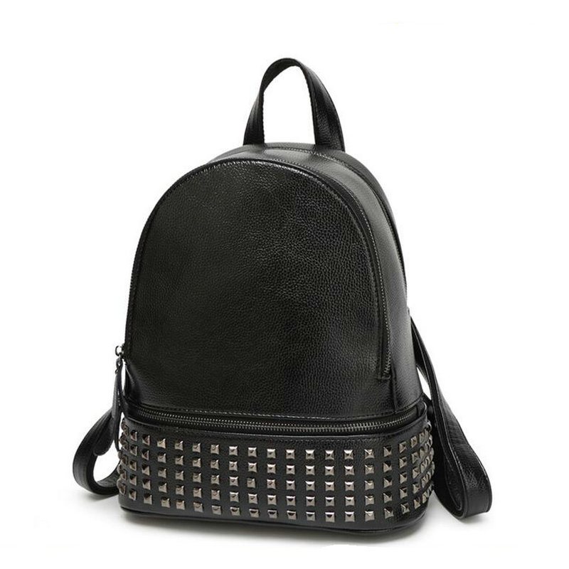 Hot Sale 2017 Women Fashion Backpack High Quality Genuine Leather Backpacks for Teenage Girls Single Color