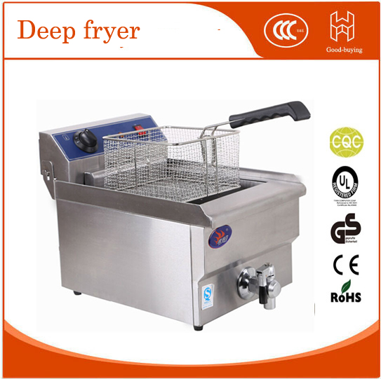 Fryer tornado potato spiral potato twiter Restaurant kitchen Thicken commercial single electric deep fryer  220v 12l electric deep fryer for spiral potato twister potato tornado potato fry potato churros chicken