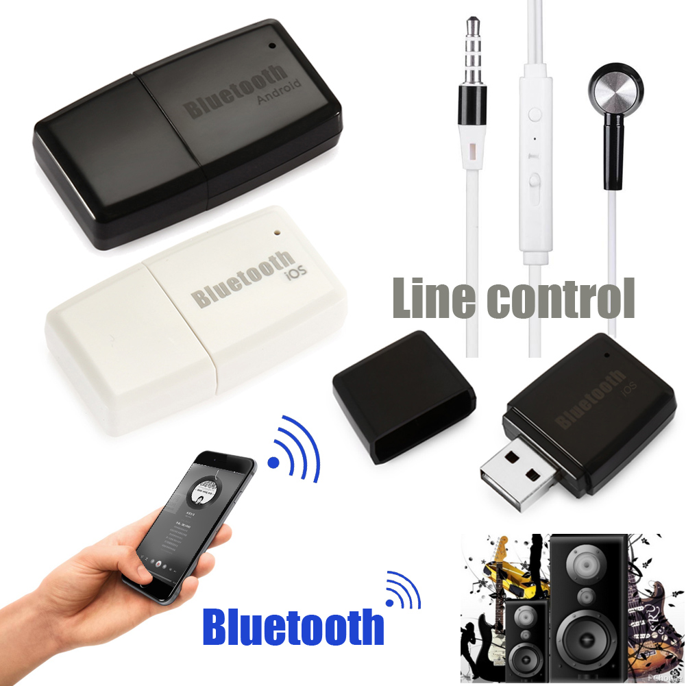 Wireless Bluetooth V4.1+ EDR A2DP 3.5mm USB Handsfree Home Car Kit AUX Audio Stereo Music Receiver Adapter for Android for iOS stereo 3 5 blutooth wireless for car music audio bluetooth receiver adapter aux 3 5mm a2dp for headphone reciever jack handsfree