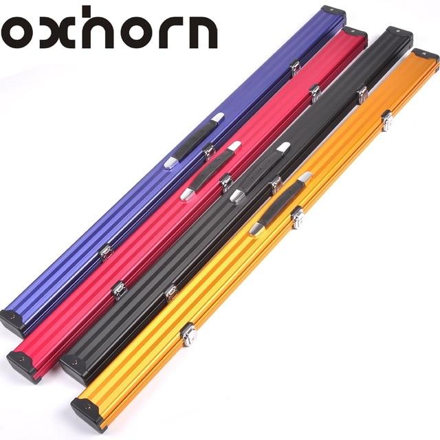 c7e6ccaba64 Brand OXHORN 3 4 snooker billiard cue case wood 3 4 Rod box billiard  accessories High quality billiards pool stick 3 4 cases
