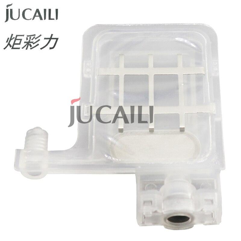 Jucaili 6 pcs Transparent DX5 big ink damper for EPSON DX4 DX5 xp600 for Wit color