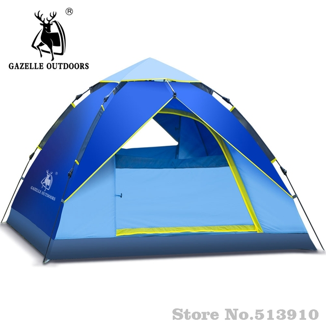 Gazelle outdoors Single Layer 2-3 person Tents Hydraulic Automatic Windproof Waterproof Tent Outdoor Hiking  sc 1 st  AliExpress.com & Gazelle outdoors Single Layer 2 3 person Tents Hydraulic Automatic ...