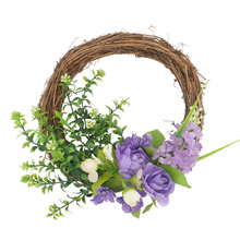 Purple flowers and Quality Plants Round Wreath Door Hanging Wall Window For The home decoration accessories