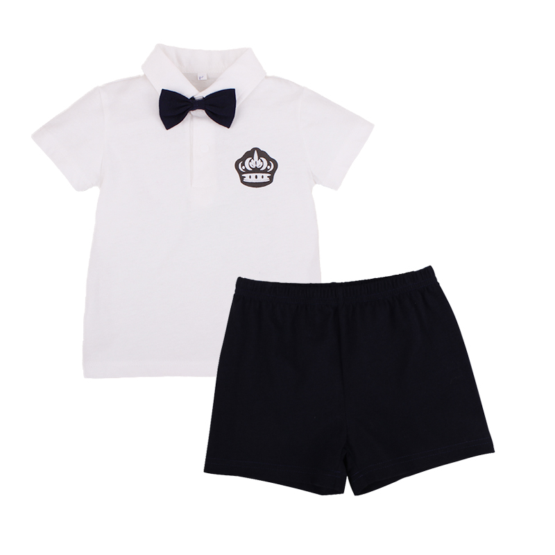 Children Set Brand Summer Baby Boys Kids Clothes 2pcs Top+Shorts Boy Gentleman Outfits Cotton Clothing Set Fashion Sports Suits children s suit baby boy clothes set cotton long sleeve sets for newborn baby boys outfits baby girl clothing kids suits pajamas