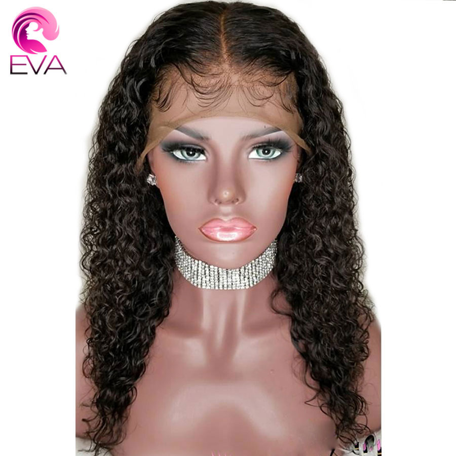 Eva 180% Density 360 Lace Frontal Wig Pre Plucked With Baby Hair Brazilian Remy Curly Lace Front Human Hair Wigs For Black Women