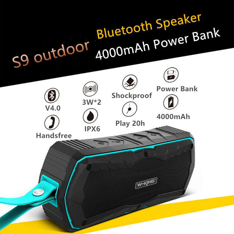 W-King су өткізбейтін Bluetooth 4.0 динамикі - Портативті аудио және бейне - фото 2
