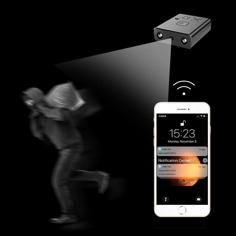 HD 1080P Mini Camcorder WIFI Smallest Mini Camera Micro Infrared Night Vision Cam Micro camera Motion Detection Video recorder in Mini Camcorders from Consumer Electronics
