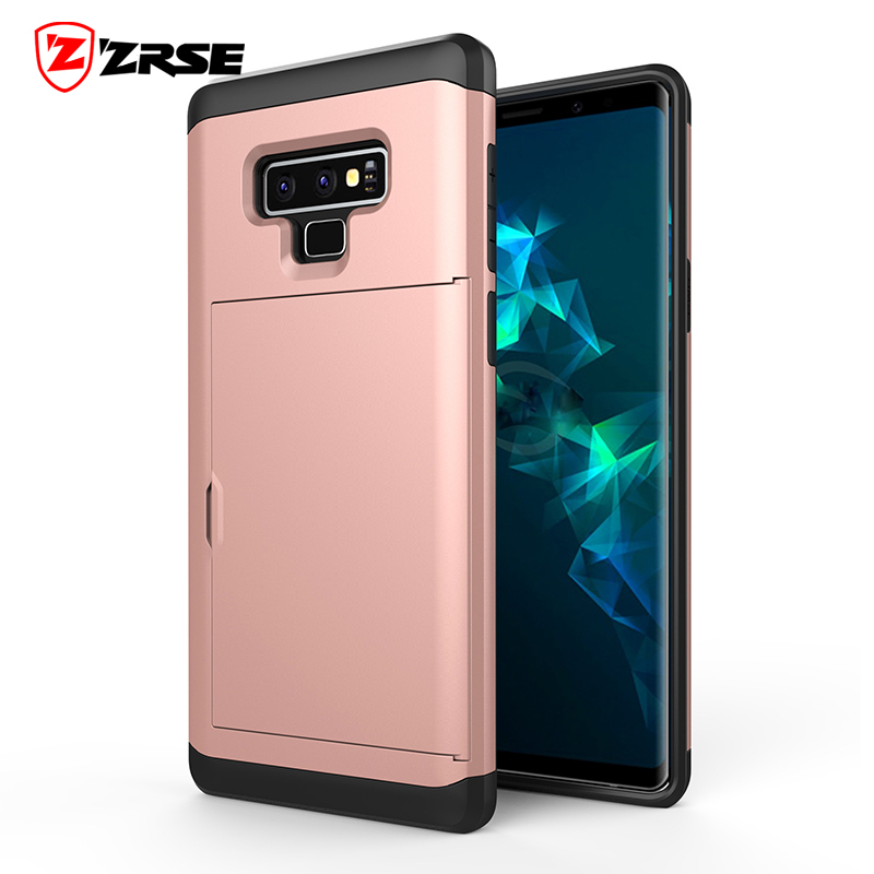 ZRSE Card Slot Phone Case for Samsung Galaxy Note 9 Note 8 Mobile Acces