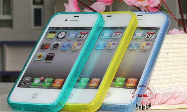 Free shipping cellphone Matte Soft TPU Rubber back Case with Dust Proof Plugs Shock Proof protective Cover For Iphone 4 4S