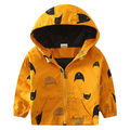 Baby Boy Cartoon Fish Trench Toddler Yellow Coat Kids Winter Jacket Windbreaker Outerwear Clothes