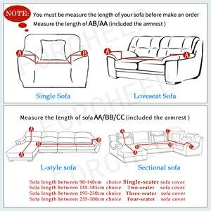 Image 2 - אדום כיסויים ספה כיסוי הכל כלול להחליק עמיד חתך ספה מכסה לסלון אלסטי ספה כיסוי 1 /2/3/4 מושבים