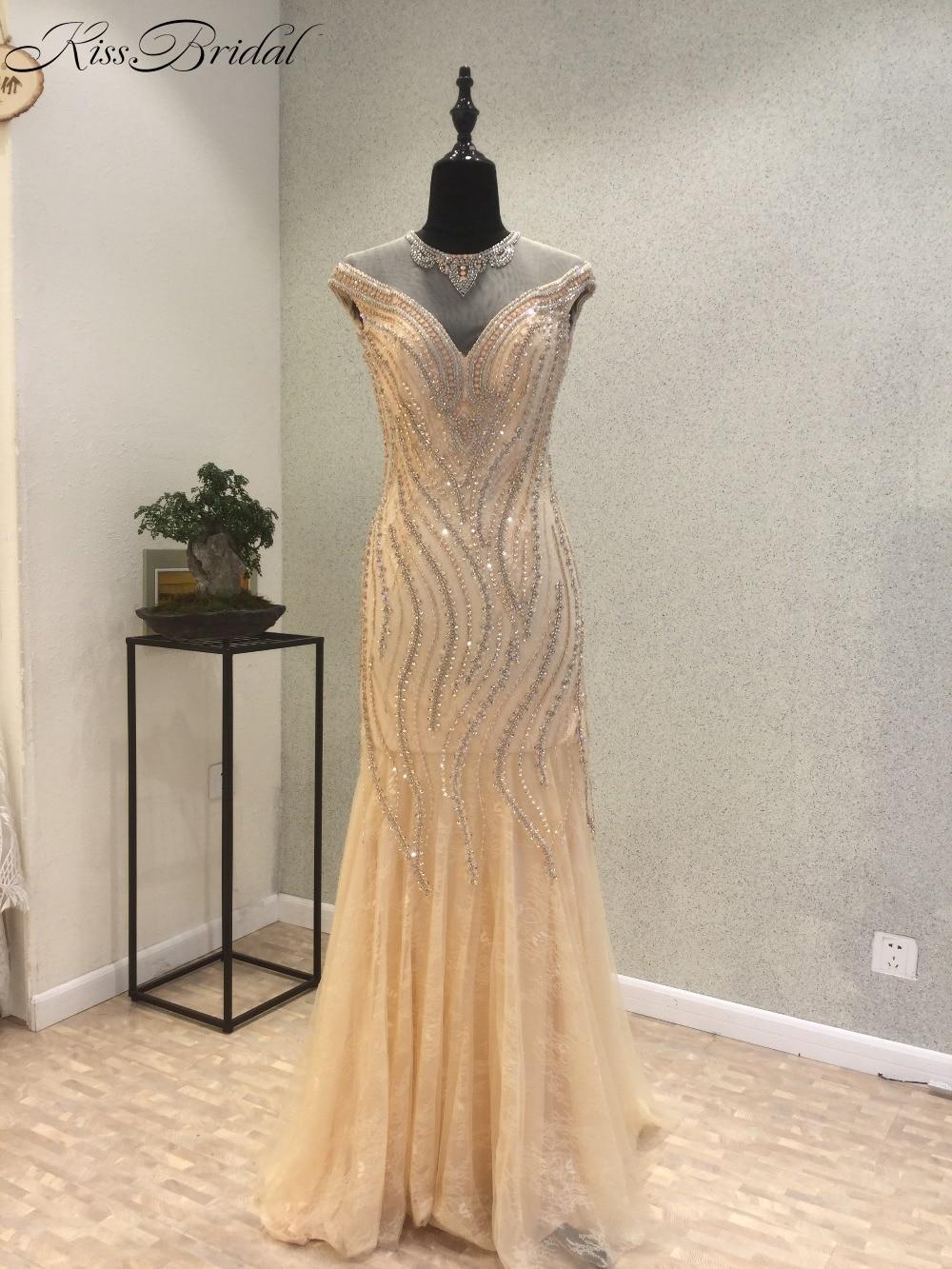 Fashionable Mermaid   Evening     Dress   Zipper Back Beading Tulle Champagne Prom Party   Dresses   Sleeveless