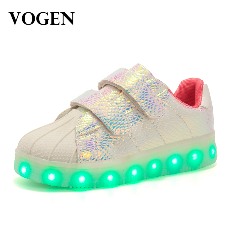 2017 New Arrival Fashion Kids Light Up Shoes Sneaker Shoes Led Running Shoes Krasovki Luminous Comfortable High Quality Hot Sale new hot sale children shoes pu leather comfortable breathable running shoes kids led luminous sneakers girls white black pink