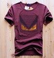 Novo 2016 top venda homens pute diamante camisa do projeto t dos homens da marca de luxo de algodão tops tees