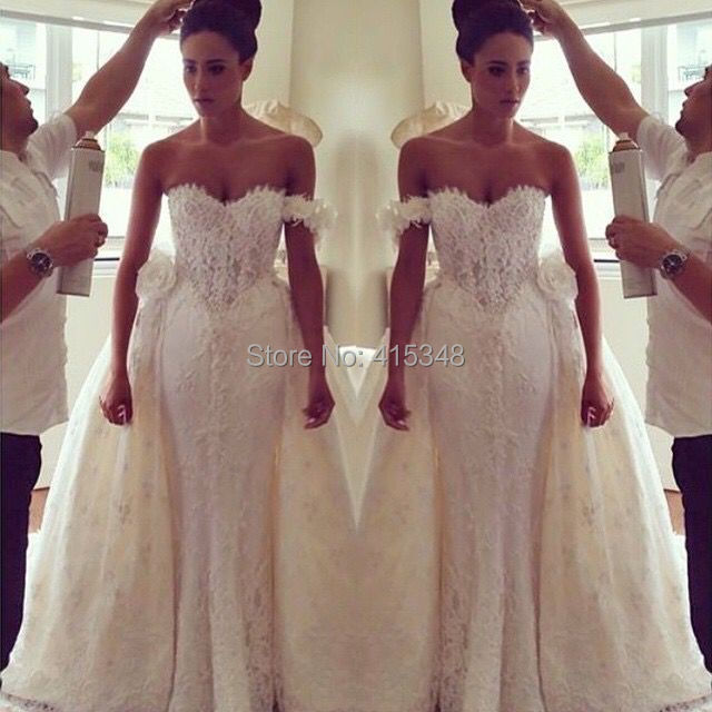 two in one dress wedding